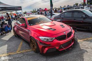 Фото бесплатно карнинджа, BMW M4, красная бмв