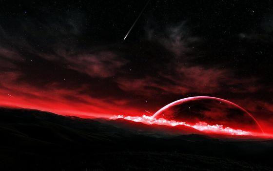 Фото бесплатно фэнтези, пейзажи, планеты