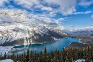 Заставки Peyto Lake,Banff National Park,Alberta,Canada,озеро,горы,скалы