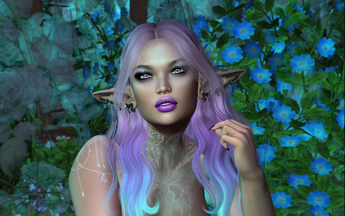 Фото бесплатно elf, виртуальная девушка, портретное фото, art, девушка, девушки, макияж, лицо, косметика, стиль, гламур, красота, модель, красивый макияж, красотка, рендеринг