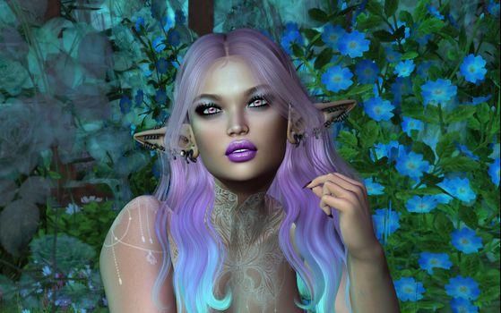 Фото бесплатно elf, виртуальная девушка, портретное фото, art, девушка, девушки, макияж, лицо, косметика, стиль, гламур, красота