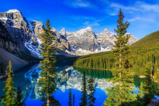 Фото бесплатно горы, альберта, пейзаж