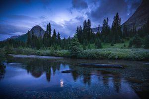 Фото бесплатно зима, горы, канада