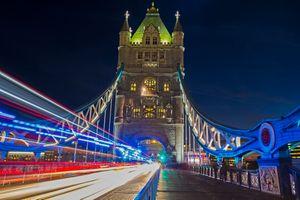 Бесплатные фото Тауэрский мост,Лондон,Великобритания,ночь,иллюминация