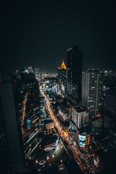 Бесплатные фото cityscape,bangkok,bkk,night,city,travel,man,portrait,woman,fullframe,wideangle,longexposure