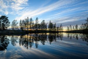 Фото бесплатно пейзаж, отражение, озеро
