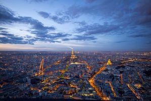 Заставки закат, город, France
