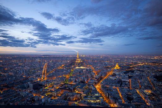 Photo free sunset, city, France