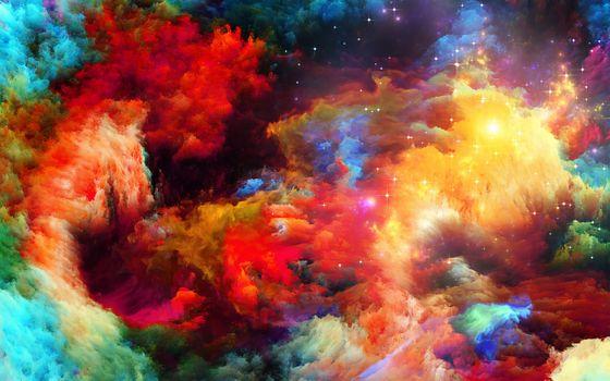 Фото бесплатно краски космоса, облака, цвета