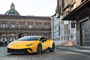 Заставки Lamborghini Huracan, желтый, суперкар