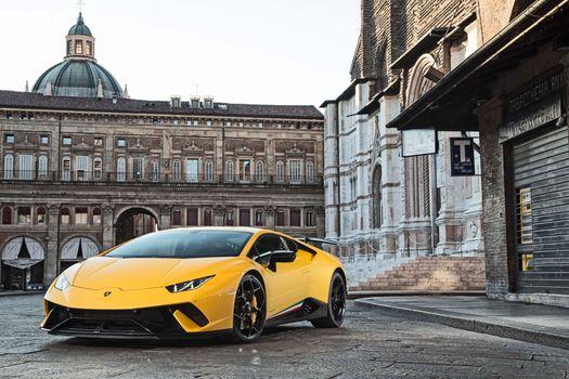 Фото бесплатно Lamborghini Huracan, желтый, суперкар