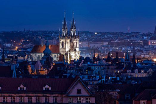 Заставки ночные города, Пражский Град, Прага