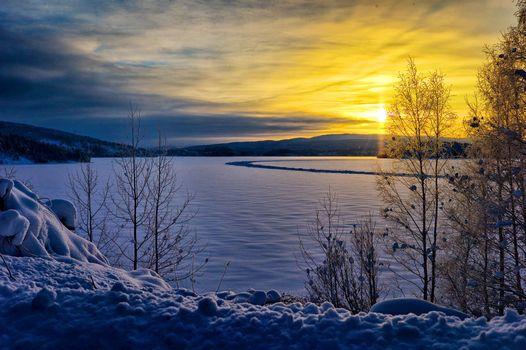 Фото бесплатно Крамфорс, небо, зима