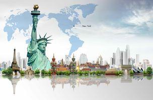 Заставки Статуя Свободы, архитектура, искусство
