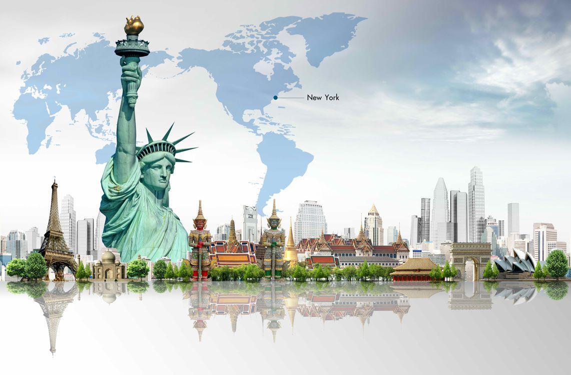 Обои Статуя Свободы, архитектура, искусство картинки на телефон