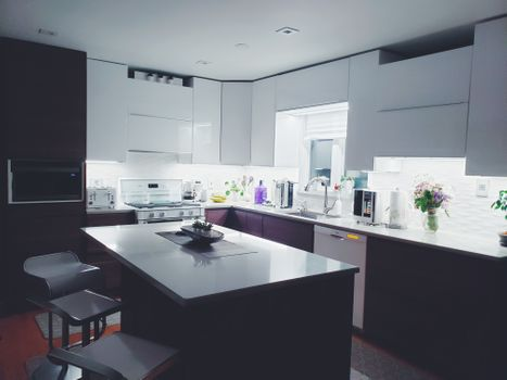 Photo free kitchen, table, interior design
