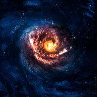 Фото бесплатно галактика, вселенная, свечение