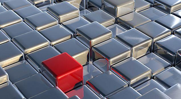 Заставки метал, металлический, кубики