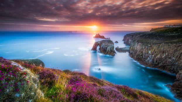 Вечер на побережье в Англии · бесплатное фото