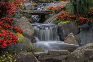 Photo free waterfall, stones, rocks