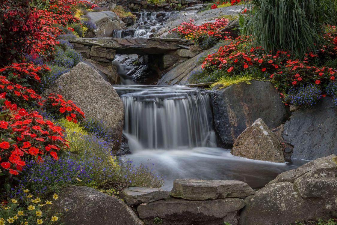 Обои водопад, камни, скалы картинки на телефон