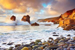 Фото бесплатно Калифорния, облака, океан