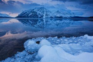 Фото бесплатно Kathleen Lake, Канада, зима