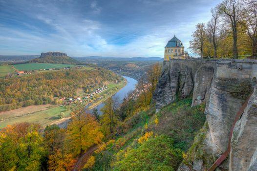 Фото бесплатно Крепость Кенигштайн, Эльба, Саксонская Швейцария