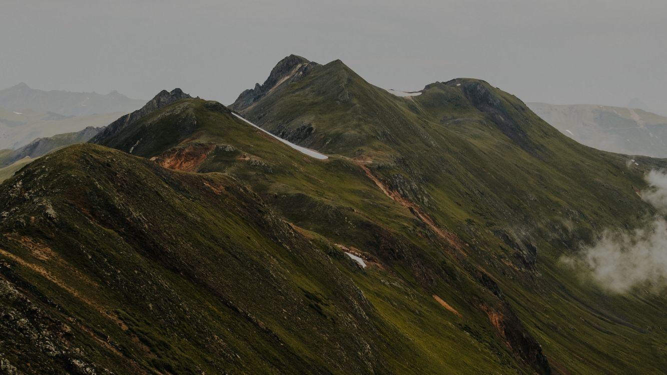 Фото бесплатно горы, холмы, туман - на рабочий стол
