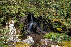 Фото бесплатно Япония, парк, водопад, деревья, пейзаж