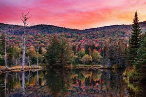 Бесплатные фото Национальный Лес Белой Горы,Нью-Гемпшир,закат,водоём,природа,пейзаж