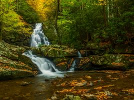 Заставки Great Smoky Mountains National Park, осень, водопад