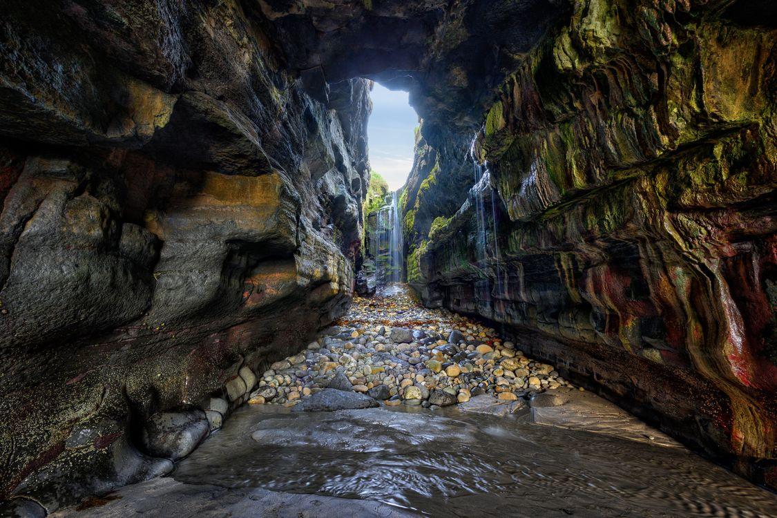 Фото бесплатно Графство Донегал, Ирландия, скалы, водопад, промоина, камни, пещера, природа, пейзаж, пейзажи