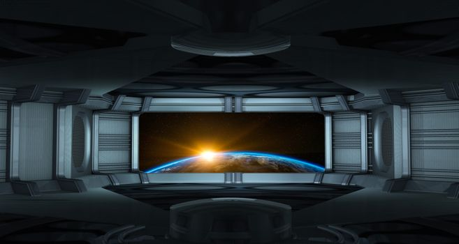 Фото бесплатно восход солнца, глобус, космический корабль