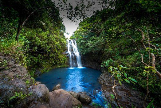Заставки Waimano Falls, Hawaii, водопад