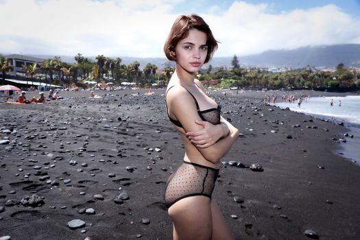 Бесплатные фото Ариэль,а Лилит,Ариэла,Руфина Т,модель,красивые,чувственные губы,лифчик,трусики,белье,пляж,номера обнаженная