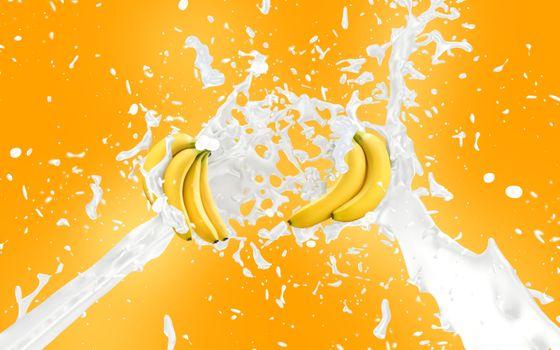 Бананы в молоке · бесплатное фото