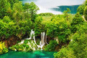 Фото бесплатно Плитвицкие озера, Национальный парк Плитвицкие озера, Plitvice Lakes national park, Croatia, Хорватия, водоём, водопад, природа, пейзаж