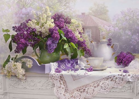 Photo free flowers, background, lilac