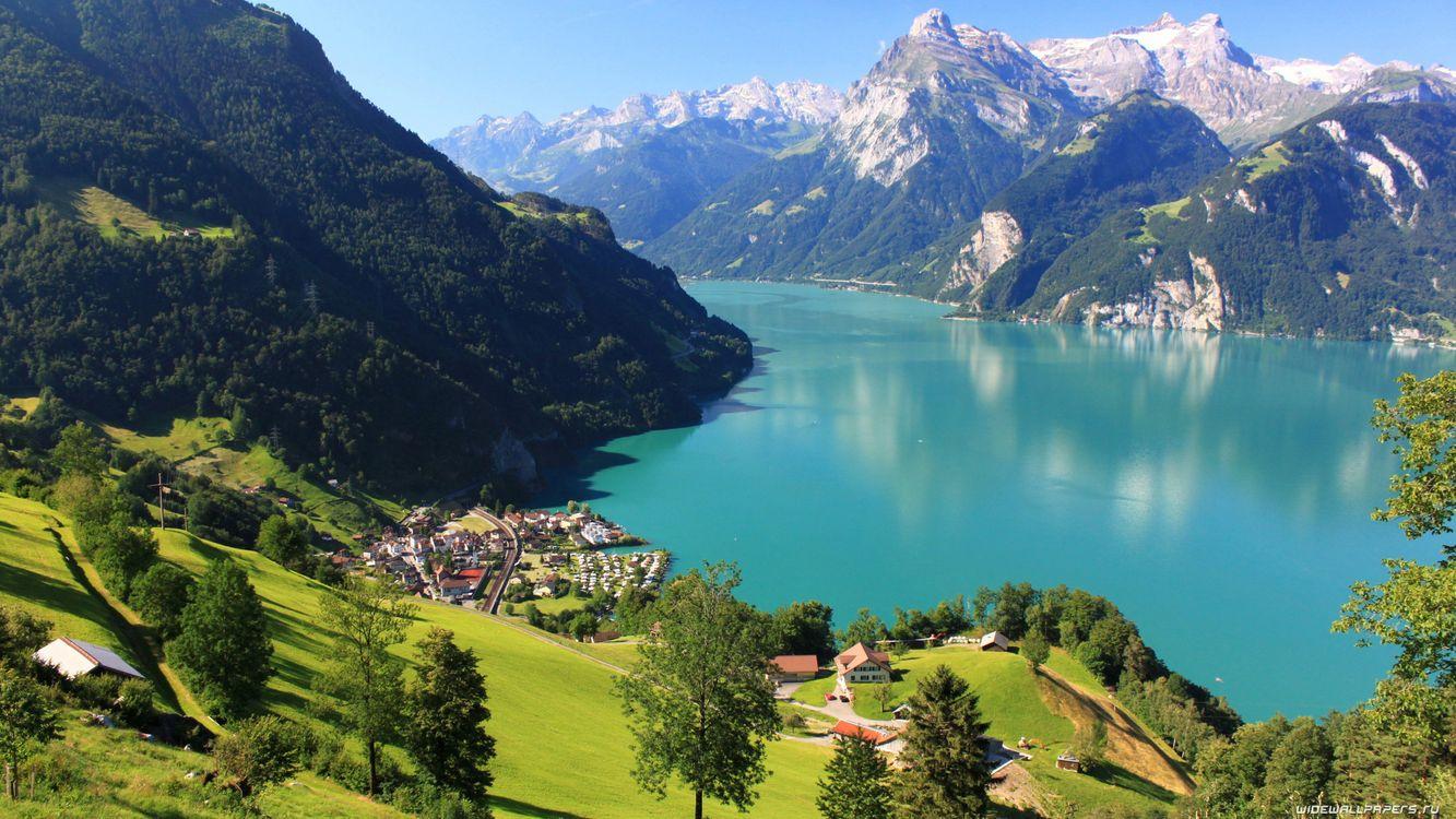 Фото бесплатно облако, озеро, пейзаж, горы, природа, отражение, река - на рабочий стол