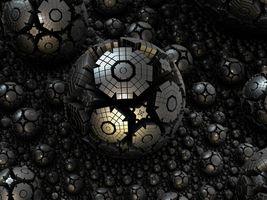 Фото бесплатно фрактал, сфера, сталь, 3d, структуры, сложные, комплекс, футуристический