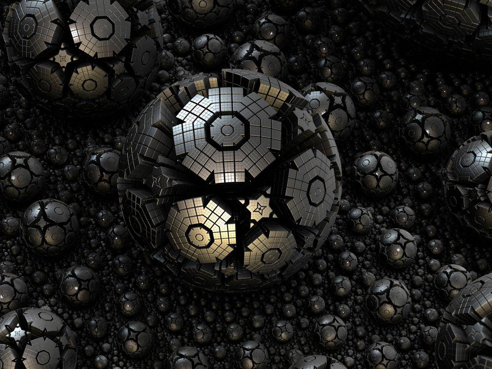 Фото бесплатно фрактал, сфера, сталь, 3d, структуры, сложные, комплекс - на рабочий стол