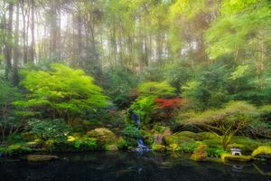 Заставки Portland Japanese Garden, Oregon, United States