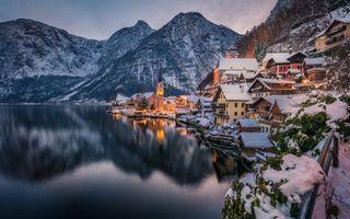Фото бесплатно Гальштат, город, горы