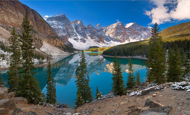 Озеро в Moraine Lake · бесплатное фото
