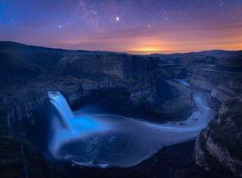 Фото бесплатно Водопад Palouse, водопад, река