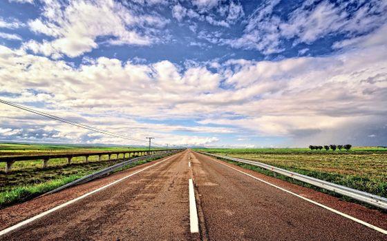 Фото бесплатно небо, пейзаж, поля