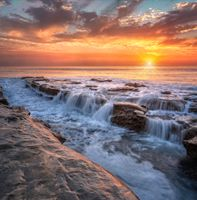 Заставки La Jolla waterfall, Сан-Диего, Калифорния