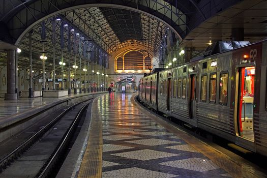 Photo free Last train station of Rossio, Lisbon, Portugal