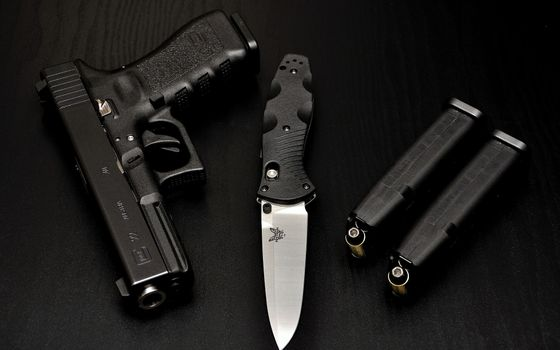 Photo free ammunition, guns, knife